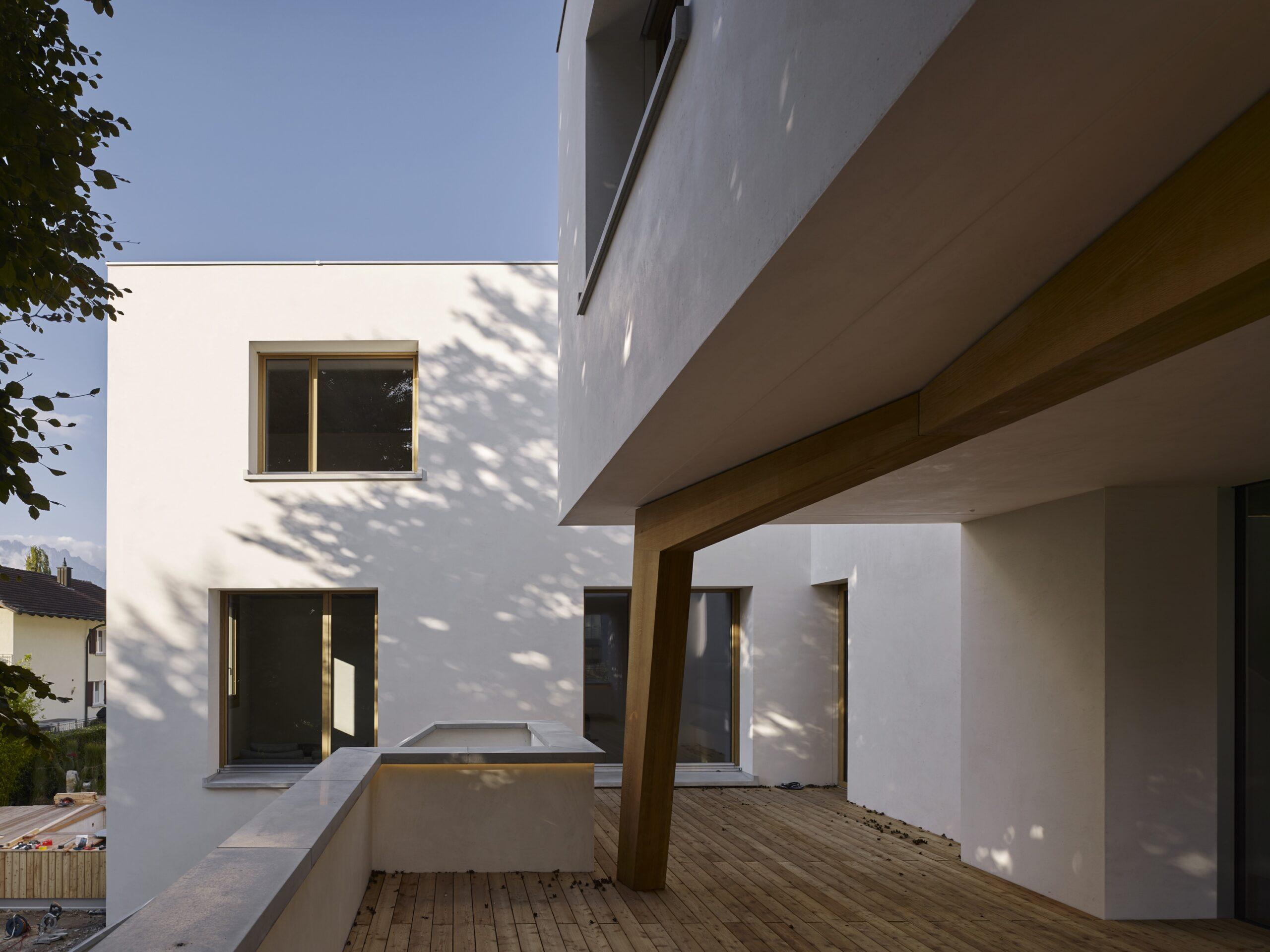Haus Holdergasse, Terrasse und Fassade, BE Architekten, Olex, Marc Lins