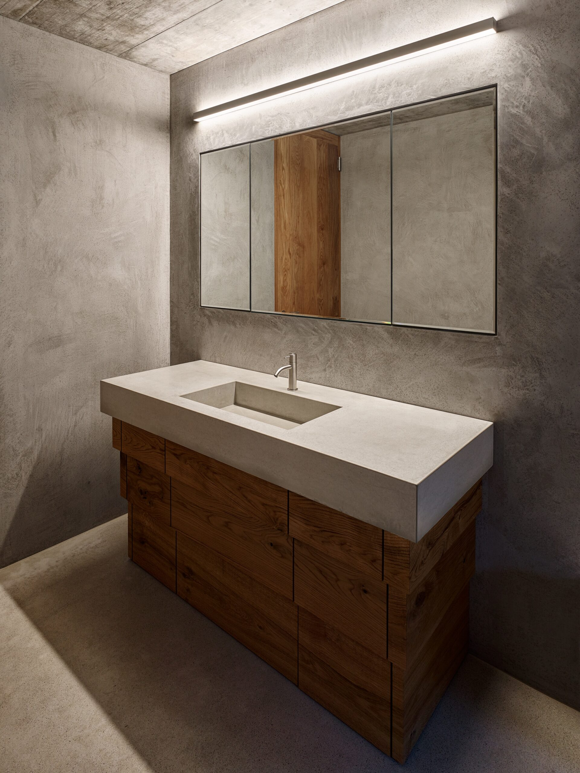 Haus Holdergasse, Badezimmer mit Waschbecken, BE Architekten, Olex, Marc Lins