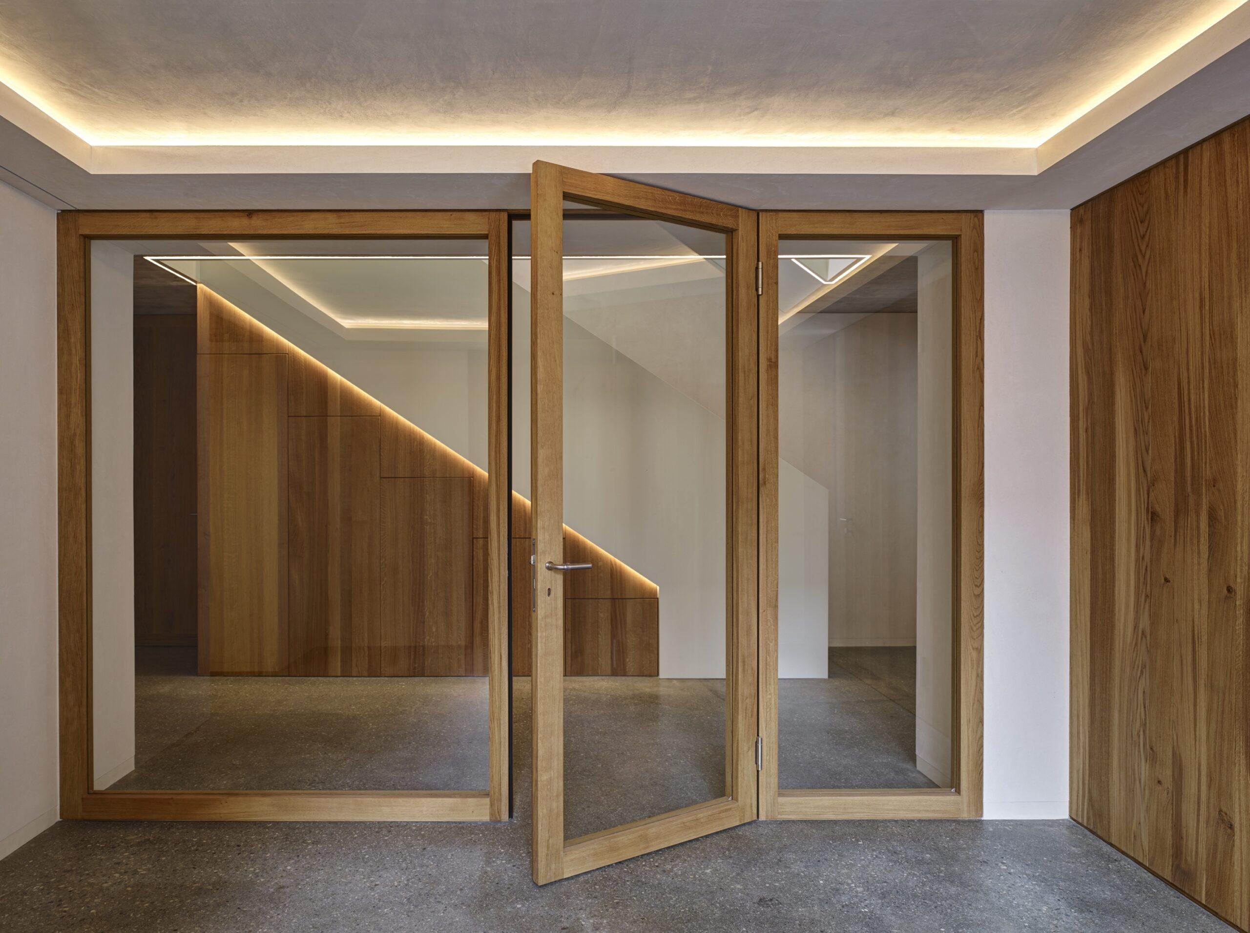 Haus Holdergasse, Eingangsbereich, Stiegenhaus, BE Architekten, Olex, Marc Lins